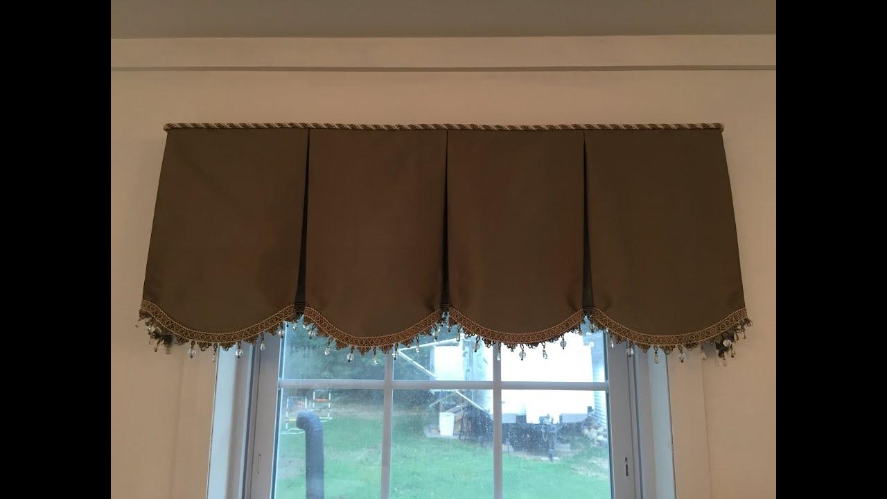 x valance jacquard scroll to treatment pair curtain p tailored blue how waterfall regency hang window parisian