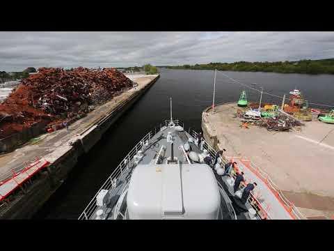 Lé Eithna departing Limerick Dock after Riverfest 2018