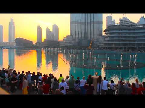Dubai Fountain Show   Burj Khalifa   Dubai Mall