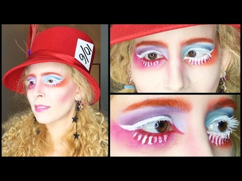 Mad Hatter Halloween Makeup: GRWM Alice Through the Looking Glass ...