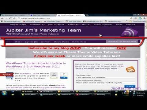 Thesis Tutorial: Add a Second Navigation Menu to blog using WordPress Thesis Theme 1.8.2