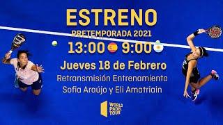 #PretemporadaWPT - Entrenamiento Sofía Araujo - Eli Amatriain