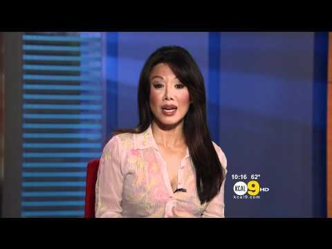 Sharon Tay 2012/04/25 KCAL9 HD; Thin white blouse