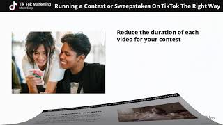 Running A Contest or Sweepstakes On TikTok The Right Way