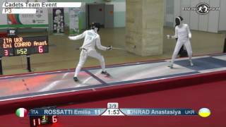 Cadets European Championships P3 Women Epee Team Ukraine vs Italy