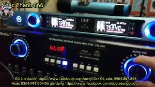 Trọn bộ karaoke bluetooth cực hay chỉ 5tr500k gồm đẩy liền vang, mic ko dây, loa bas 25