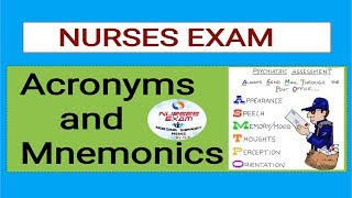 Acronyms and Mnemonics PART -2 by NURSES EXAM or Nursing Support news