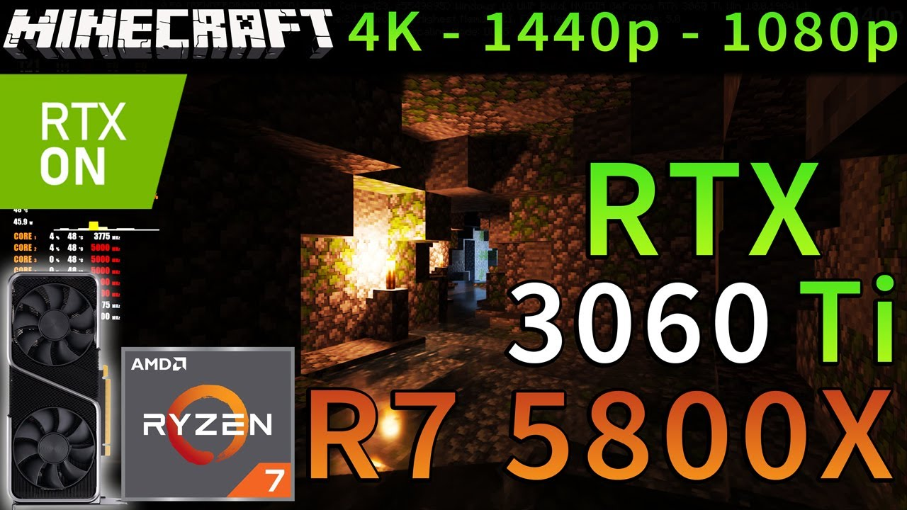 Minecraft RTX | RTX 3060 Ti | R7 5800X | RAY TRACING | DLSS | 4K - 1440p - 1080p | ULTRA GRAPHICS