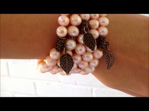 Жемчуг - браслеты из камней по летним знакам зодиака .