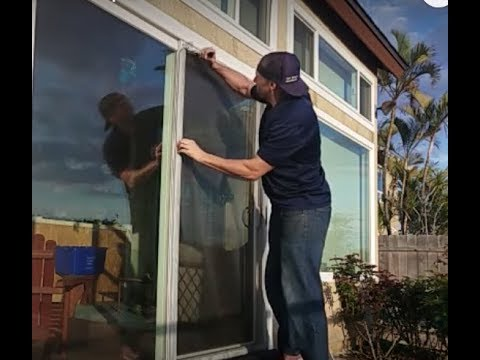 Rescreening a sliding door $50- How to fix screen door mesh. & Rescreening a sliding door $50- How to fix screen door mesh. - YouTube