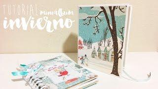 TUTORIAL SCRAPBOOKING cajita para álbum de invierno