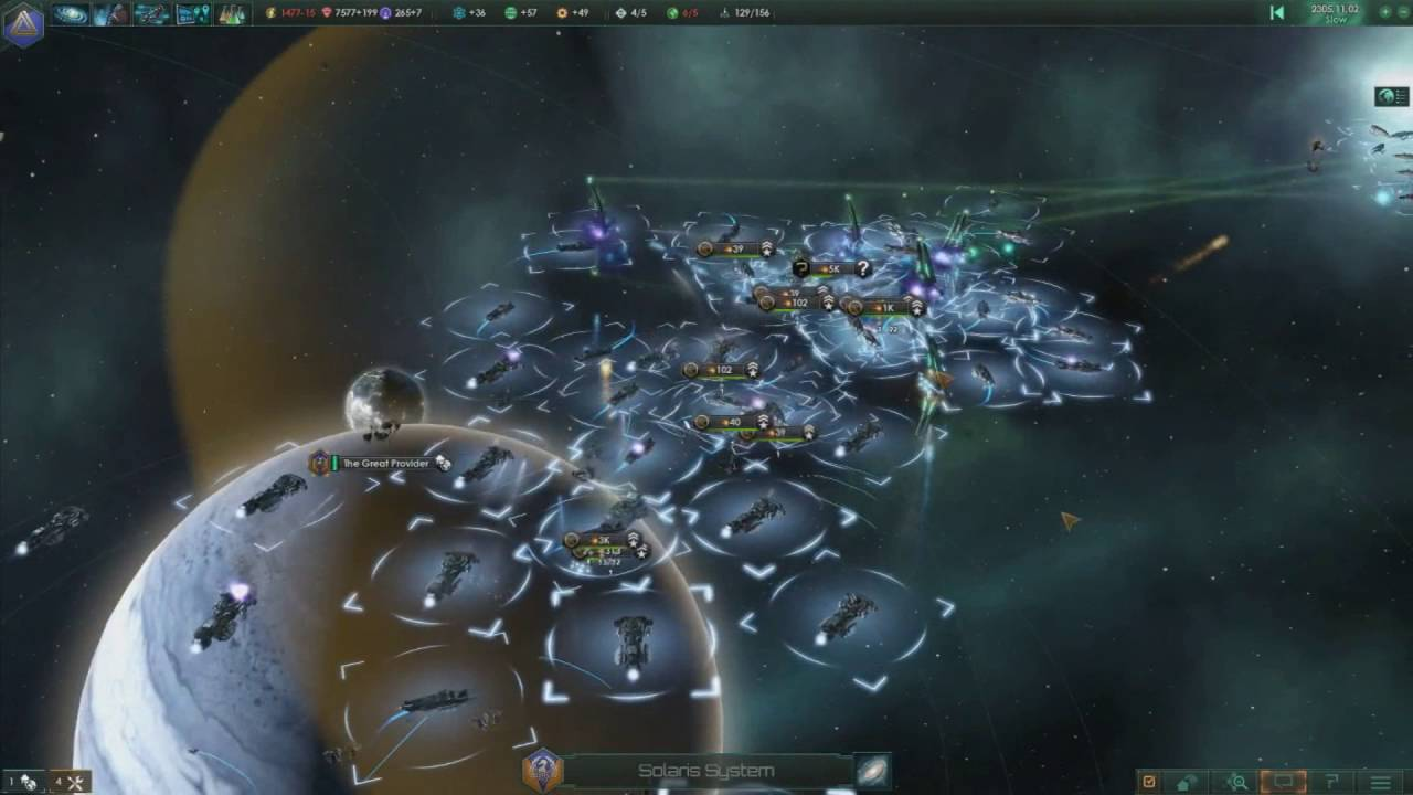 Stellaris: Fighting Fallen Empire 19K+ Strength Fleet Battle - YouTube