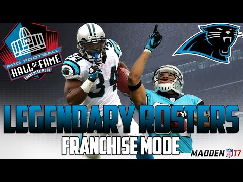 Legendary Carolina Panthers Roster | Madden 17 Connected Franchise | Julius Peppers + Steve Smith