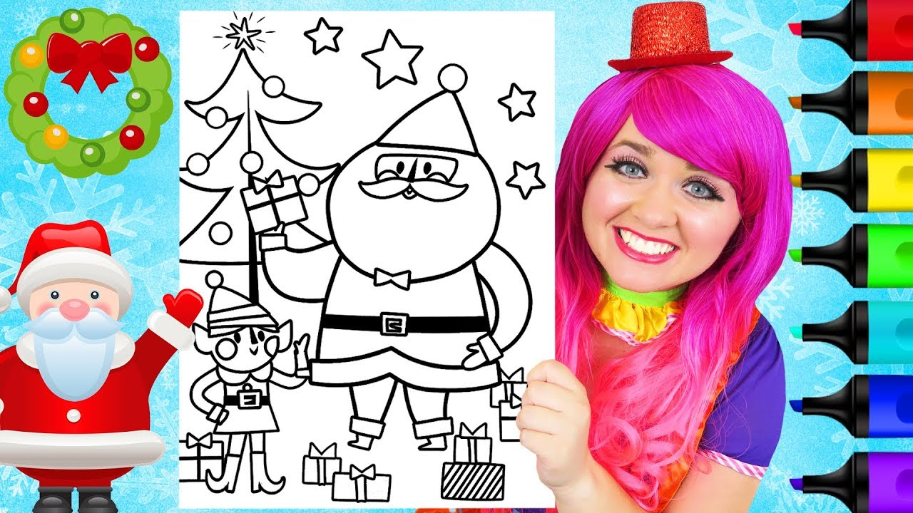 Christmas In July Coloring.Coloring Santa Elf Christmas In July Coloring Page Prismacolor Paint Markers Kimmi The Clown