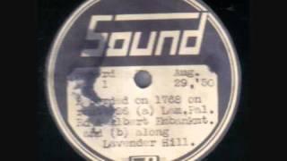 "LONDON TRAMS (Sound label) 29/8/50 12"" 78 rpm disc"