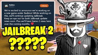 NEW BADIMO Game COMING!! JAILBREAK 2!? | Asimo3089 & Badcc | 🔴 Roblox Jailbreak LIVE thumbnail
