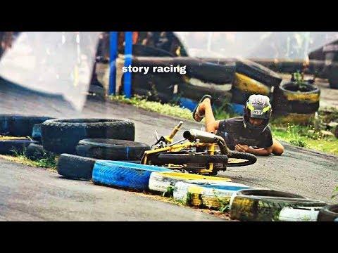 Kasian :( ALVAN CEBONK Jatoh Saat Setting Satria Fu 200cc Di Sirkuit GDS