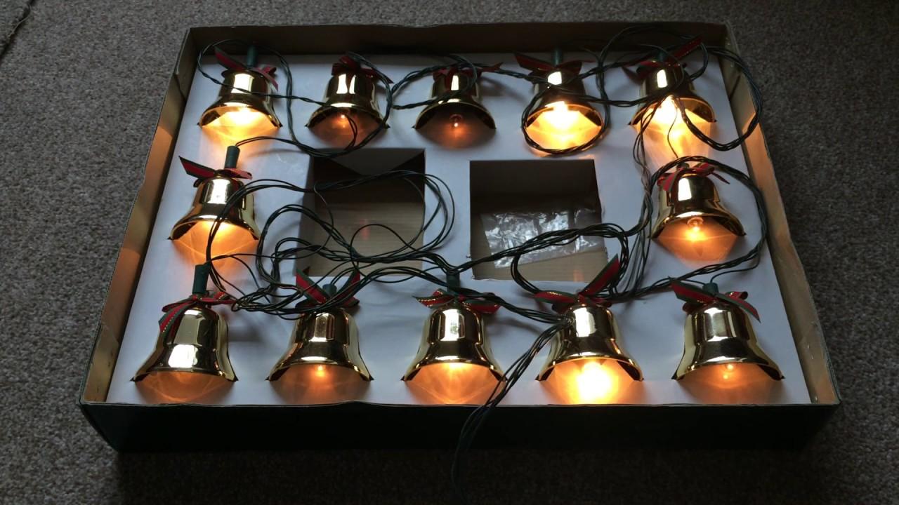 vintage brass musical christmas bells with lights 21 christmas carols 240v