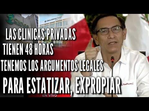 ¡SE HART0! MARTIN VIZCARRA EXPROPIARA CLINICAS PRIVADAS SI EN 48 H0R4S NO HAY 4CUERD0