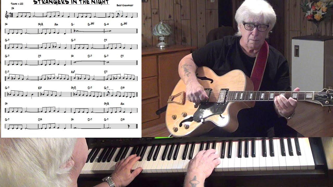 strangers in the night jazz guitar piano cover bert
