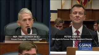 Complete exchange between Rep. Trey Gowdy (R-SC) and FBI Deputy Assistant Director Peter Strzok. This exchange includes several Points of Order and ...