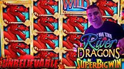 Unbelievable Run & HUGE WIN On River Dragons Slot Machine - NON STOP BONUSES WON w/$8.80 MAX BET