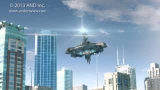 UFO over Chicago - Sci-Fi CG 2014 Series by AND Inc.