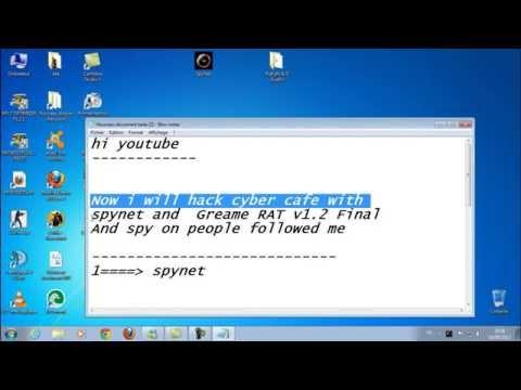 hack Internet cafe using SpyNet and Greame RAT v1.2