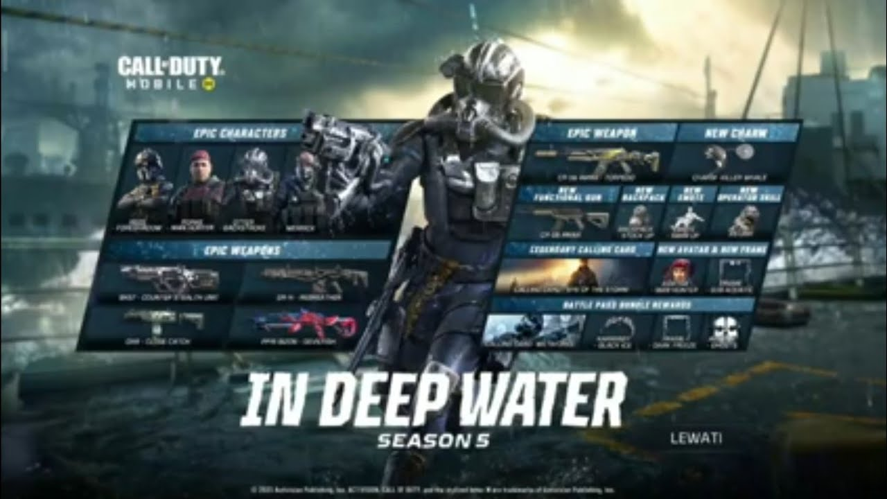 """video royal pass season 5 CALL OF DUTY MOBILE """" IN DEEP WATER """""""
