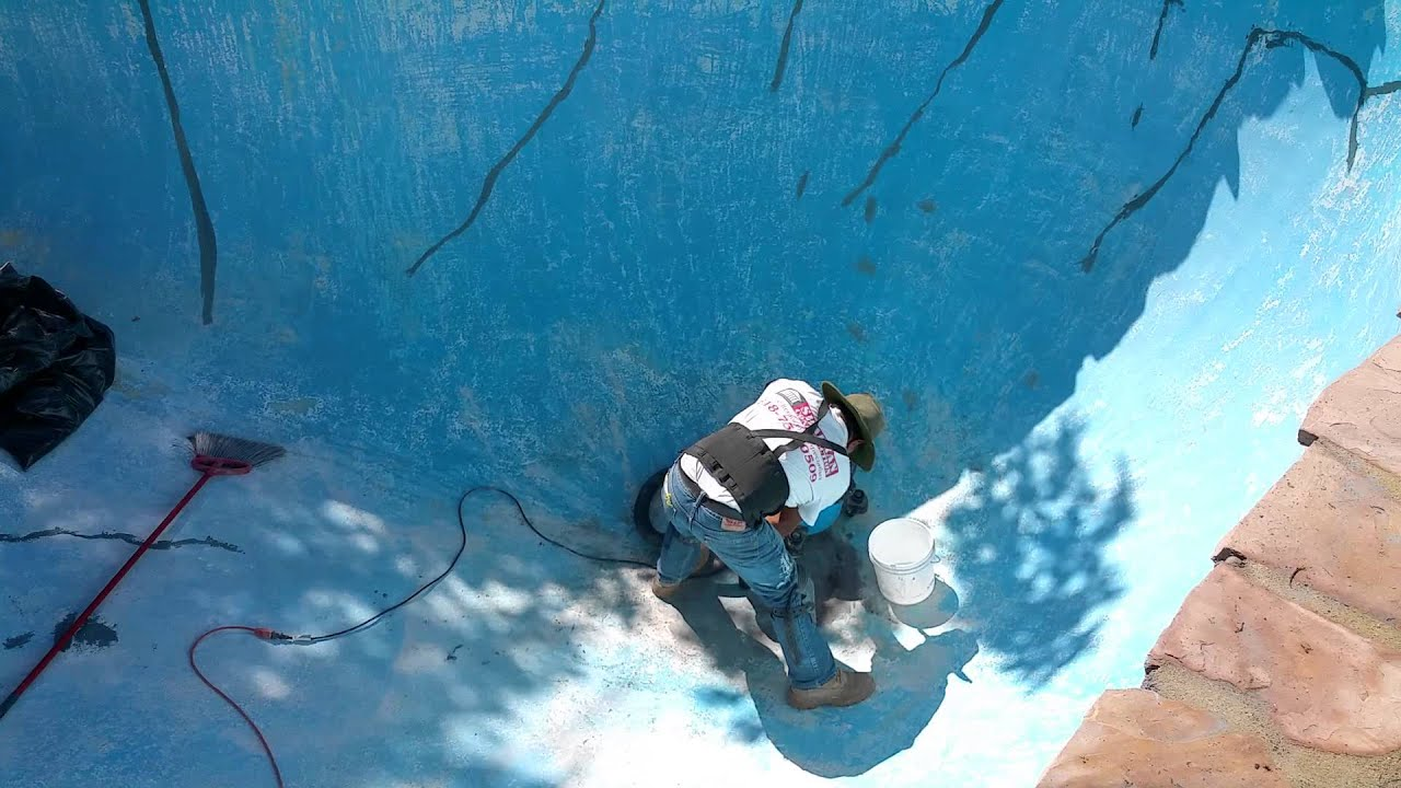 Pool Plaster Patching Compound : How to fix cracks in pool plaster with concrete