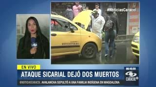 Sicarios motorizados asesinaron a dos personas en Bello, Antioquia - 8 de Octubre de 2014