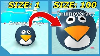 Becoming the Biggest Penguin in Roblox Penguin Simulator