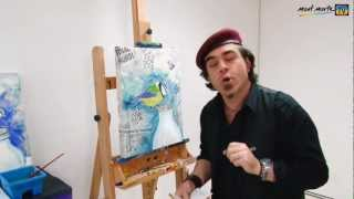 Art Lesson: How To Paint A Cute Bird On Newspaper By Mont Marte