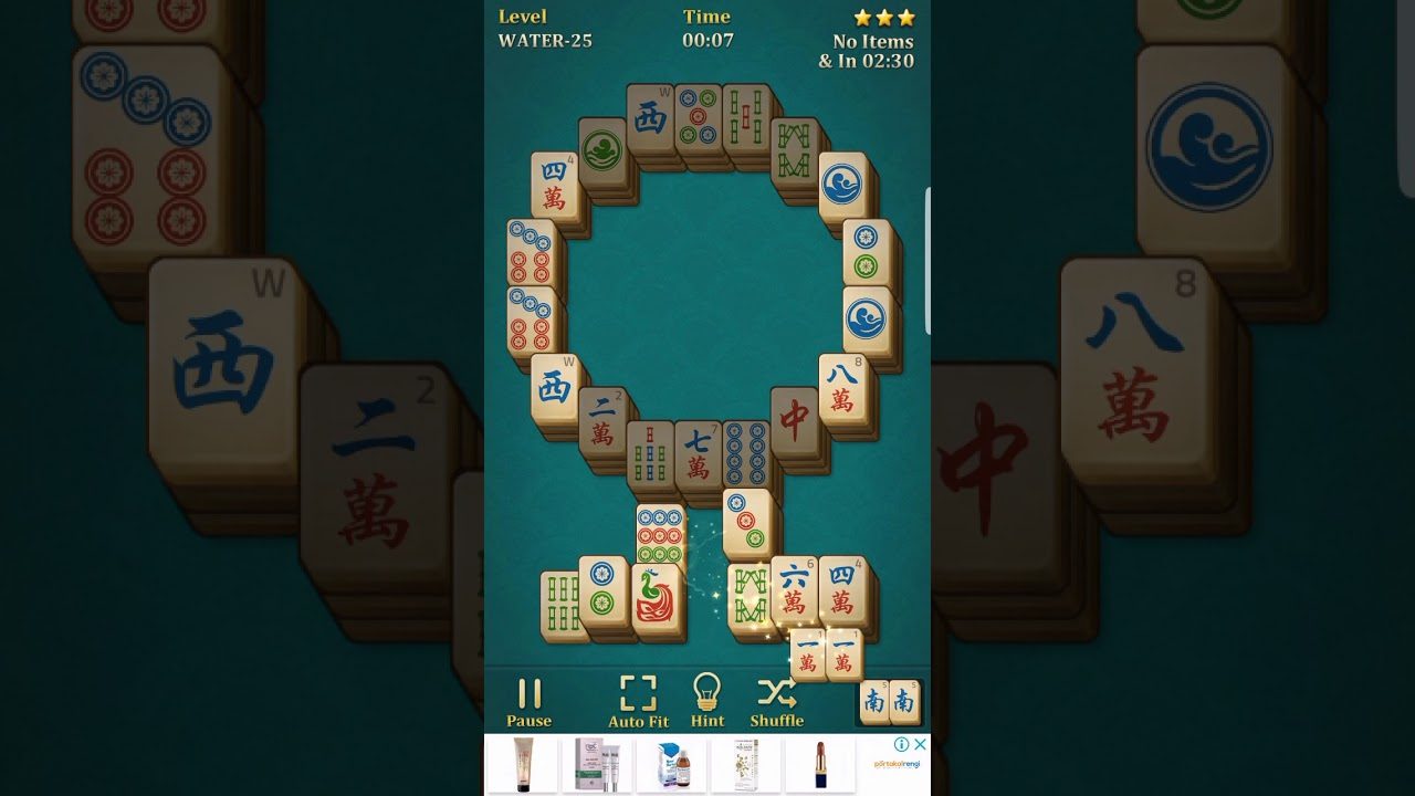 Mahjong solitaire classic water - 25