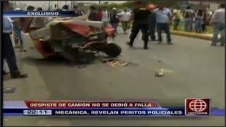 Accidente Ventanilla peritaje revelo que tragedia no se debio a falla mecanica