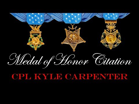Medal of Honor Citation - Cpl William Kyle Carpenter