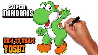 How to Draw Yoshi | Super Mario Bros