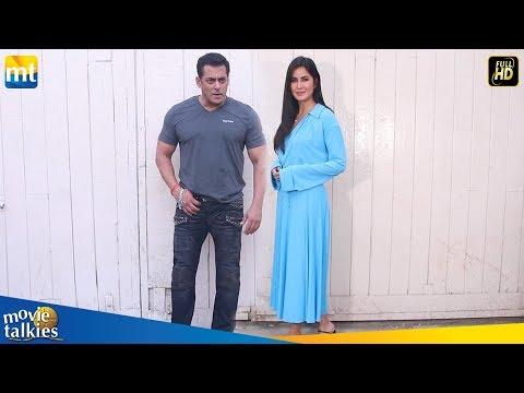 Salman Khan With His HOT GF Katrina Kaif At Bharat Promotion In Mehmoob Studio