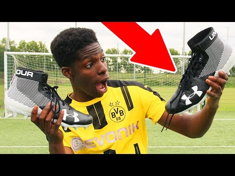 british kids tries american football boots for the first time