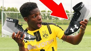 BRITISH trying 100$ AMERICAN FOOTBALL BOOTS!! - Is it REALLY worth it ?? 😱🔥