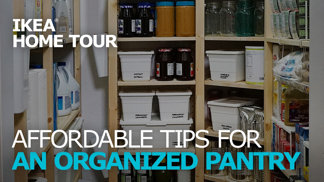 pantry organization tips ikea home tour youtube. Black Bedroom Furniture Sets. Home Design Ideas
