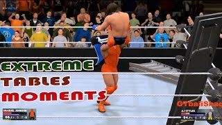 WWE 2K17 - Extreme OMG Tables Moments [PS4 & Xbox One]