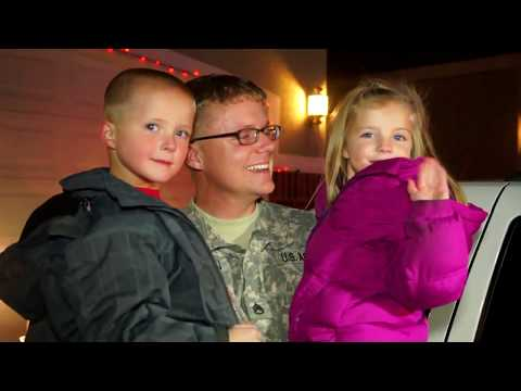 A Soldiers Christmas Surprise - American Soldier receives Police Escort to surprise kids