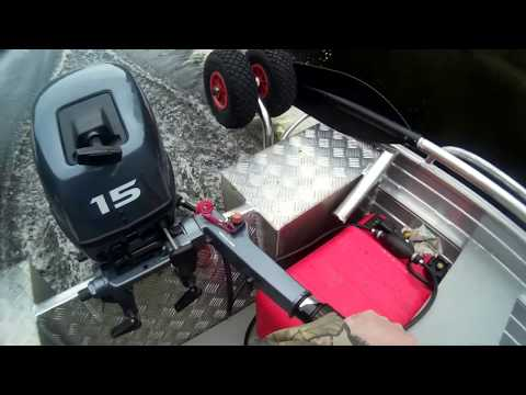Алюминиевая лодка, yamaha 15 45км/ч