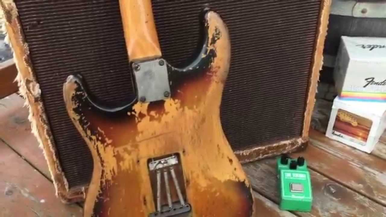 1969 Fender Strat Played Thru 4 Fret Job Earned Wear Video Eddie Vegas