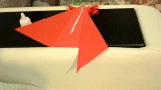 Как сделать декоративную воздушную змею из бумаги? [Оригами воздушный змей]