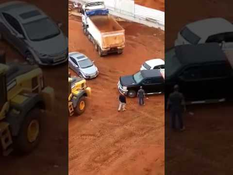 Fight at the construction site