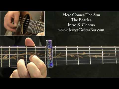 How To Play The Beatles Here Comes The Sun (intro only)