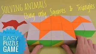 Solving original Puzzle Animals as a solutions Puzzle for beginners Brain Training