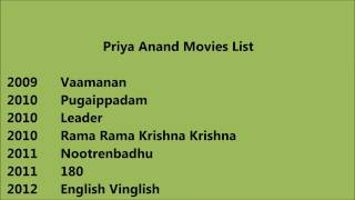Priya anand movies list